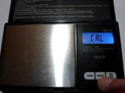How to calibrate a marijuana scale - YouTube